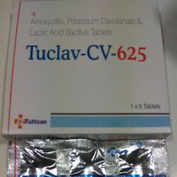 Tuttsan Tuclav Cv 625 Tablets, Packaging Type: Box