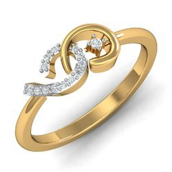 Gold Women Diamonds Ring