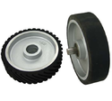 Brown Rubber Belt Grinding Contact Wheel