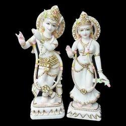Marble Radha Krishana Statue