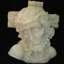 Jesus Face Over Cross In Resin Christ_8