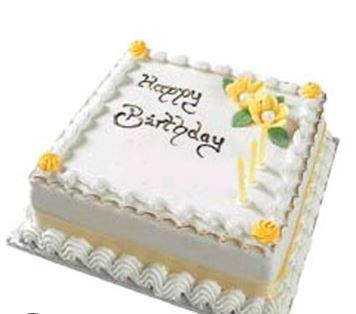 Surprising Happy Birthday Vanilla Cake L In Sector 10 A Funny Birthday Cards Online Overcheapnameinfo
