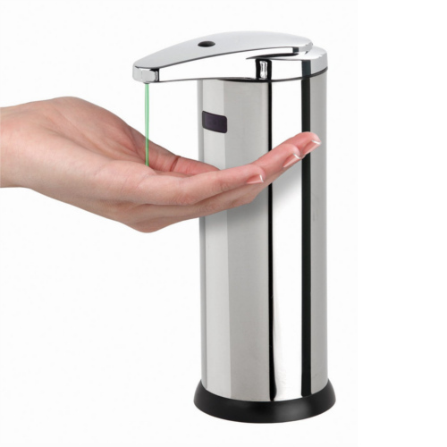 Silver Orchids Automatic Soap Dispenser Dimension Size L150mm W108mm H259mm