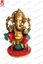 Ganesh Sitting Statue (On Rat)