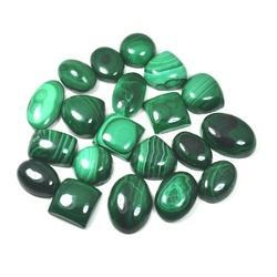 Green Malachite Cabochon Loose Gemstone Mix Lot