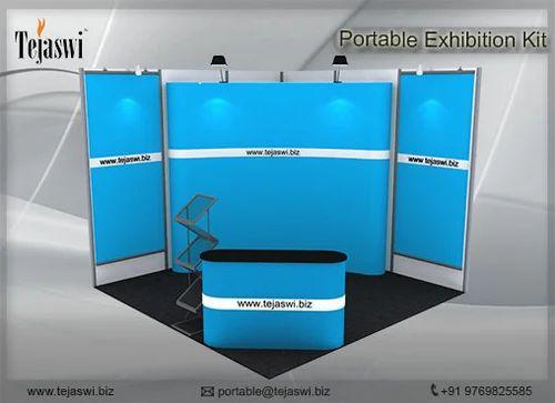 Portable Exhibition Kit : Portable exhibition stall combo tejaswi services pvt ltd