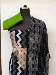 Hand Block Printed Gotta Patti Suit