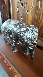 Meenakari Wooden Elephant
