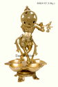 Brass Krishna lamp