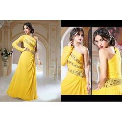 Party Yellow Fancy Gown