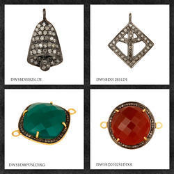 Pave Diamond Charm Jewelry Findings