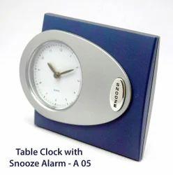 Rectangular Black Alarm Table Clock, For Office, Packaging Type: Box