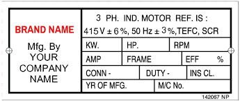 Electric Motor Nameplate Details Explained