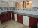 Red & White Modular Kitchen