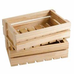 Plain Edible Rectangular Wooden Crate, For Packaging, Capacity: Upto 70 Kg