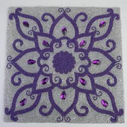 Purple Beaded Placemat
