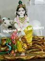 Marble Krishna Cow Statue