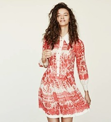 Red And White Ladies Dress