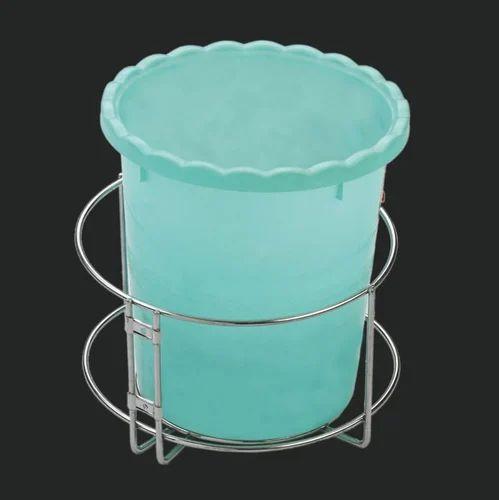 Ss Kitchen Dustbin Basket Ss Dustbin Om Industries Rajkot Id