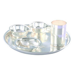 Silver Plated Thali  Dinner Set