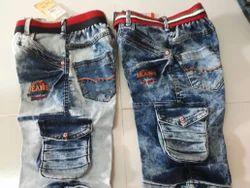 mute Denim Cargo Capri Shorts