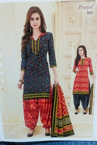 69a57b0bac Asin Black Colour Bottom Grey And Orange Colour Patiala Cotton Dress  Material
