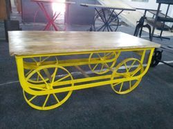 Industrial Cart Table