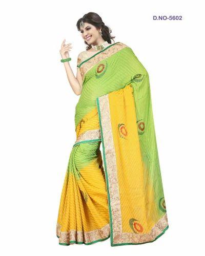 Partywear Floral Designer Sarees