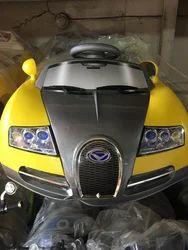 Yellow Bugatti Kid Electric Car