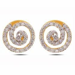 Spiral Diamond Earrings