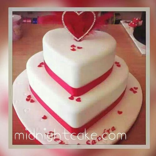 2 Tier Romantic Heart Cake Wedding Cakes Thaltej Ahmedabad