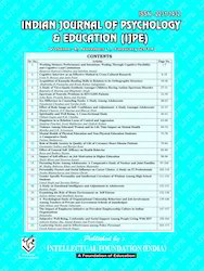 Indian Journal Of Psychology And Education Book