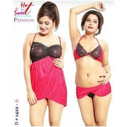 Ladies Three Piece Fancy Nighty