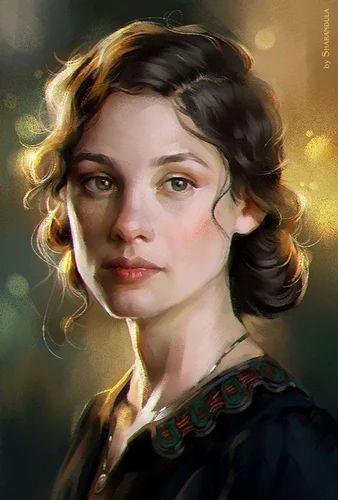 Oil Painting Portrait Antiques