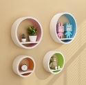 Colorful Circle Set Of 4 Wall Shelves
