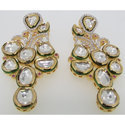 Sterling Silver Kundan Earrings