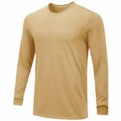 Men Cotton Plain Long Sleeve T Shirt