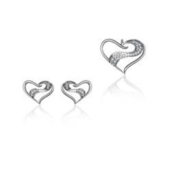 Ultra-shine Yannick Pendant Set 925 Sterling Silver