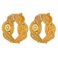 Antique Gold Plated 2 Piece Openable Bangles