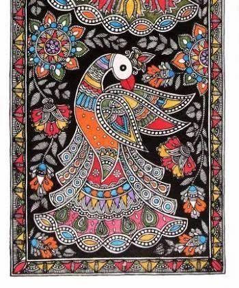 Madhubani Painting - A Peacock at Rs 3000/piece   मधुबनी पेंटिंग, मधुबनी  चित्रकारी - Rashmi Pitre Art, Mumbai   ID: 16722168355