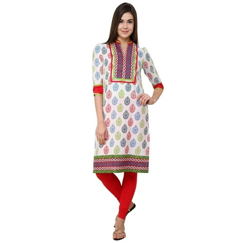 White Cotton Kurtis