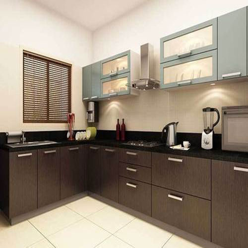 L Shaped Modular Kitchen Manufacturer