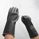 Unisex Black Alkali Resistant Glove, Pack Type: Plastic Poly Bag