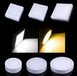 Warm White 7 W LED Panel Light, Shape: Square