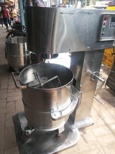 Stainless Steel Body 100 Litre Bakery & Planetary Mixer, Capacity: 100 Ltitres