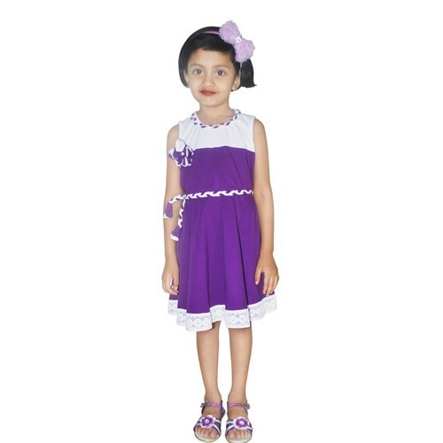 05720f904504 Girls Border Lace Frocks at Rs 250  piece