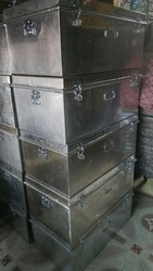 Military Trunk or Metal Box or Metal Trunk