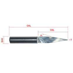Long CEL Flat Bottom Engraving Tool