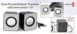 Power Plus Mini NoteBook / PC Speakers with Volume Control