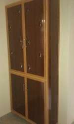 Brown PVC Wooden Finish Cupboard